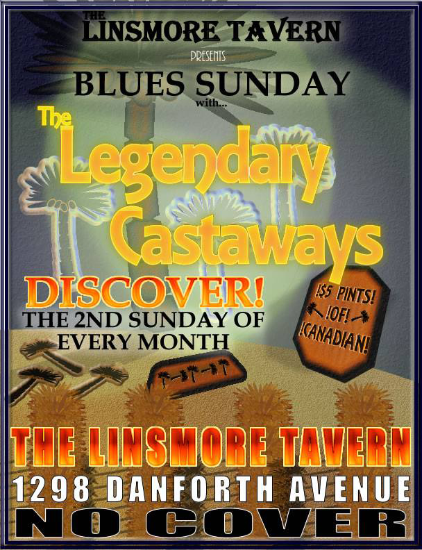 Blues Sunday in March with The Legendary Castaways!