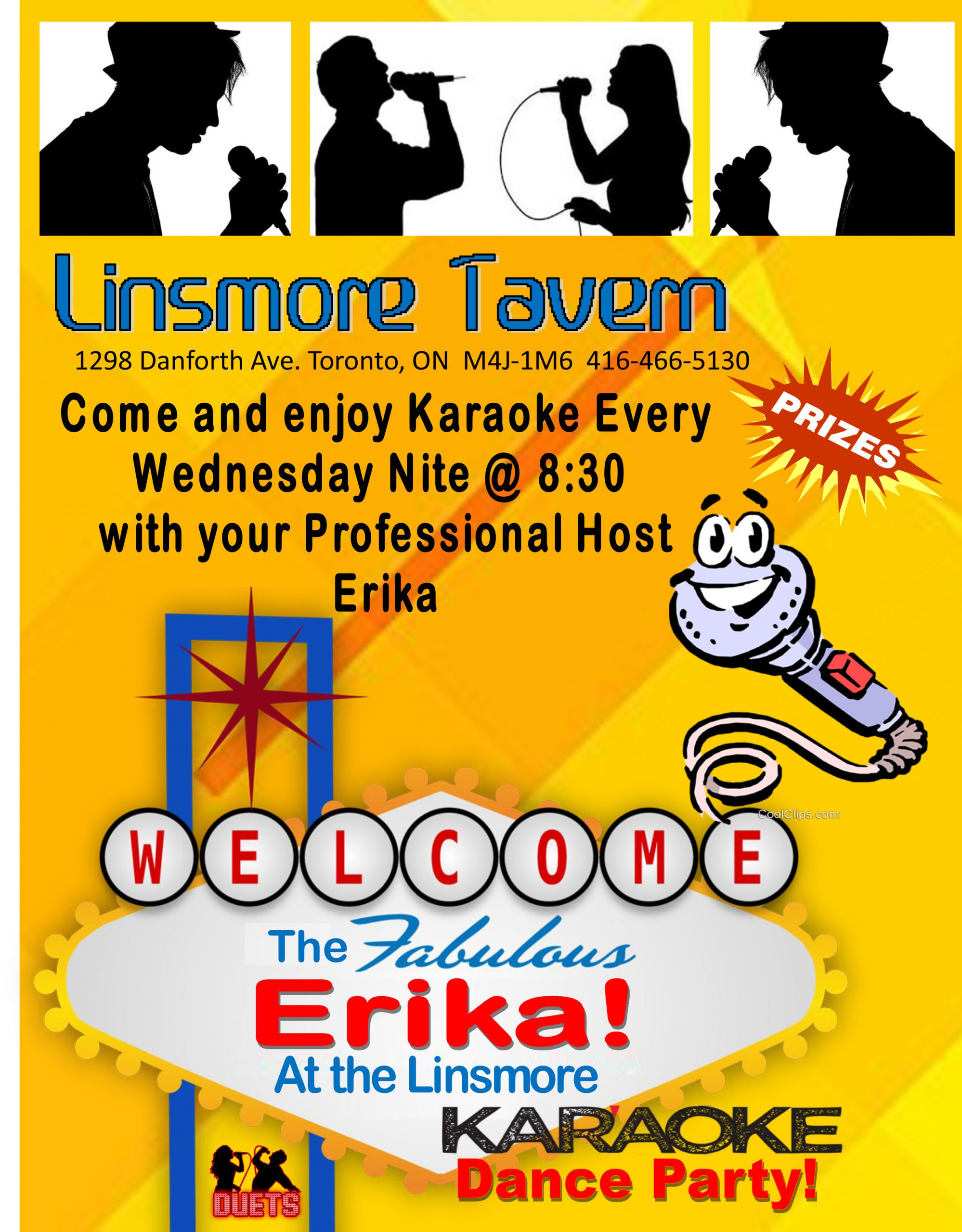Las Vegas Style Karaoke Dance Party with Erika, Every Wednesday!
