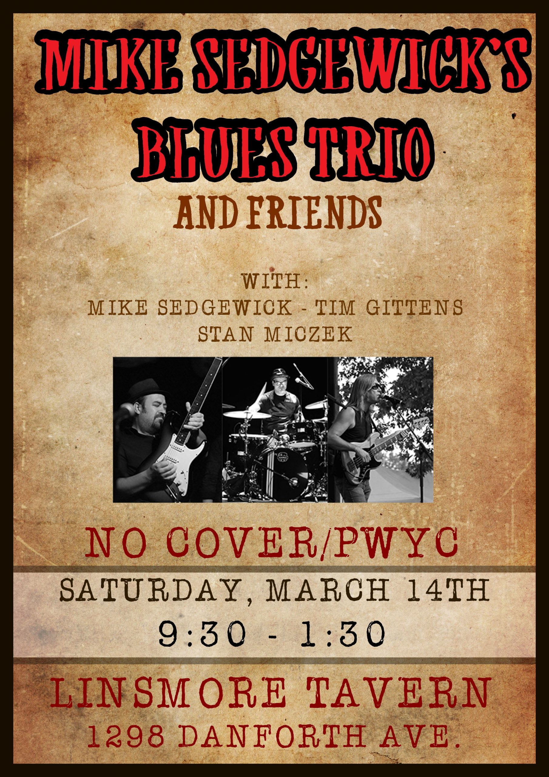 Mike Sedgewick's Blues Trio and Friends