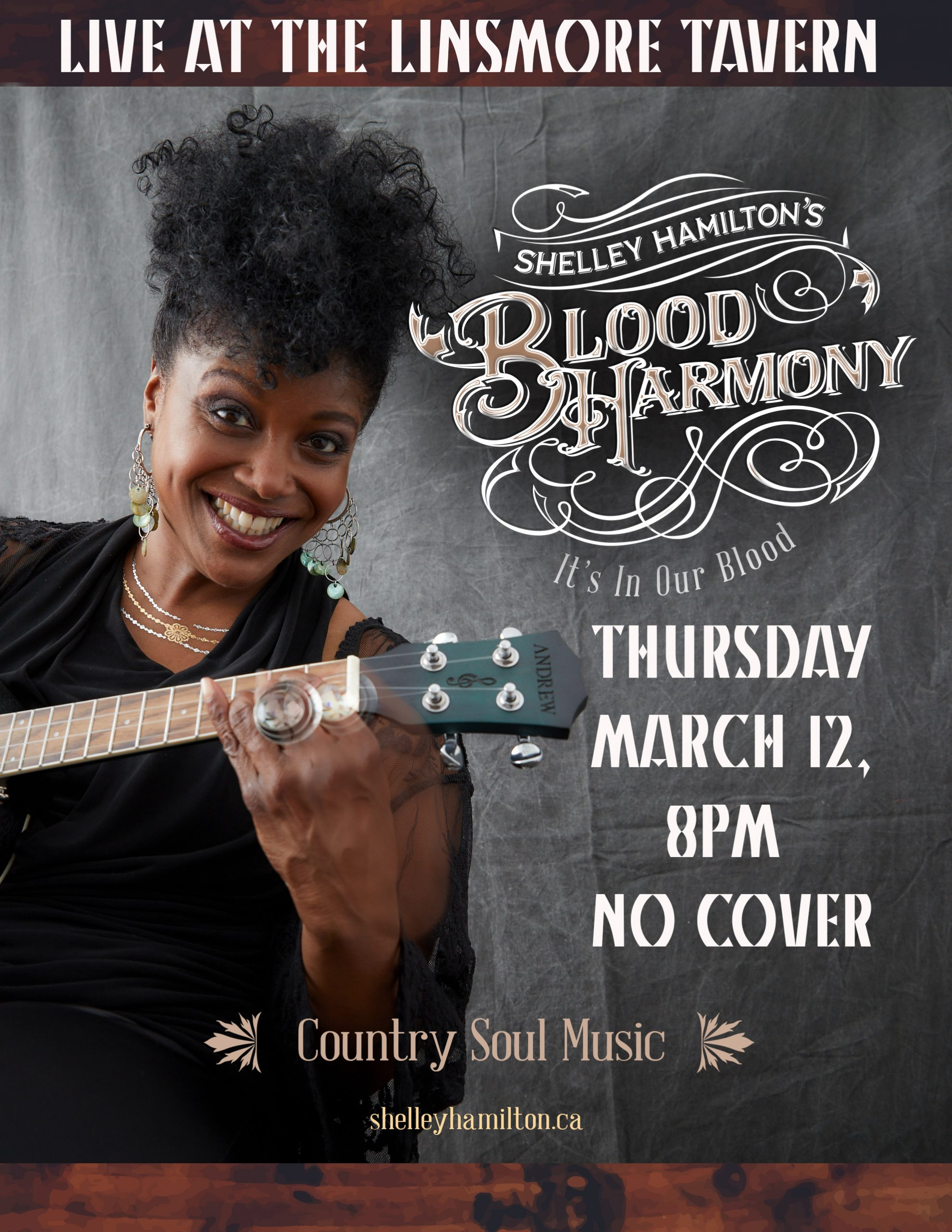 Shelly Hamilton's Blood Harmony Live at the Linsmore Tavern!